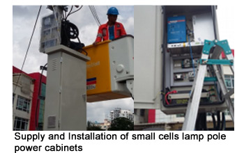 Supply and Installation of small cells lamp pole power cabinets