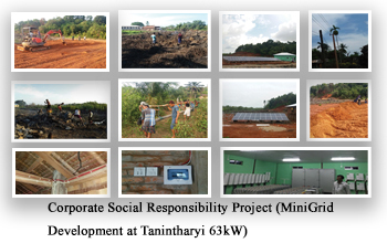 Corporate Social Responsibility Project (MiniGrid Development at Tanintharyi 63kW)
